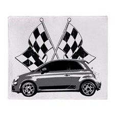 Fiat 500 copy Throw Blanket