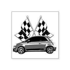 "Fiat 500 copy Square Sticker 3"" x 3"""