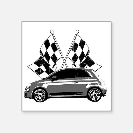 """Fiat 500 copy Square Sticker 3"""" x 3"""""""