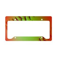 Optic Yellow I Love Softball License Plate Holder