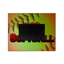 Optic Yellow I Love Softball Picture Frame