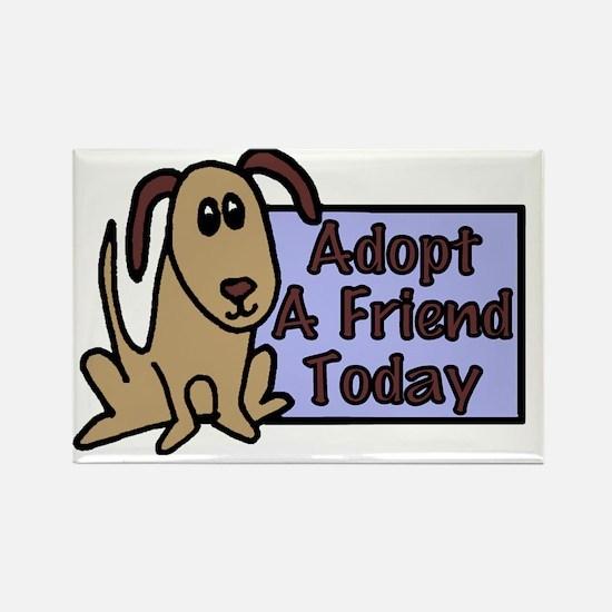 Adopt A Friend Rectangle Magnet