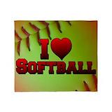 I love softball Blankets