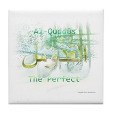 Al-Quddus_smallwhite Tile Coaster