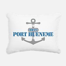 CA Port Hueneme 2 Rectangular Canvas Pillow