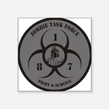 "Funny World war z %2covie Square Sticker 3"" x 3"""