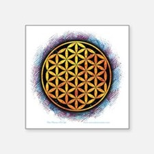 """Flower Of Life 2 Square Sticker 3"""" x 3"""""""