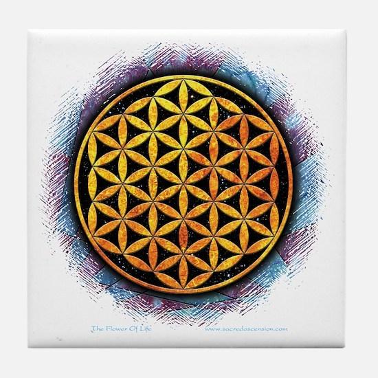 Flower Of Life 2 Tile Coaster
