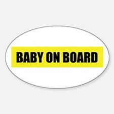 Baby on board (pregnant) Oval Decal