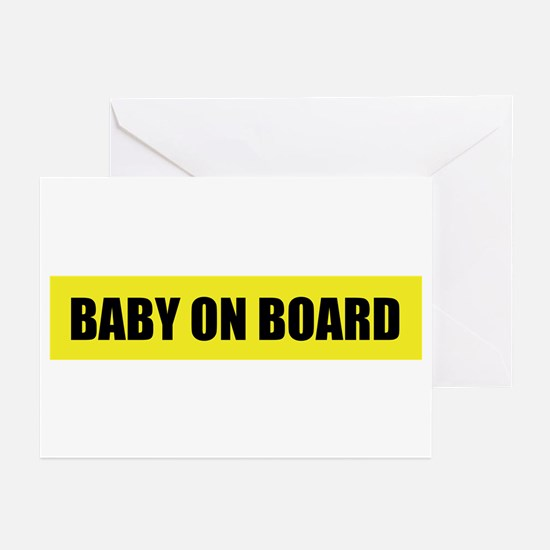 Baby on board (pregnant) Greeting Cards (6)