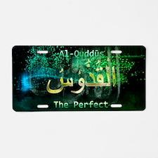 Al-Quddus Aluminum License Plate