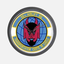50th Airlift Squadron Wall Clock