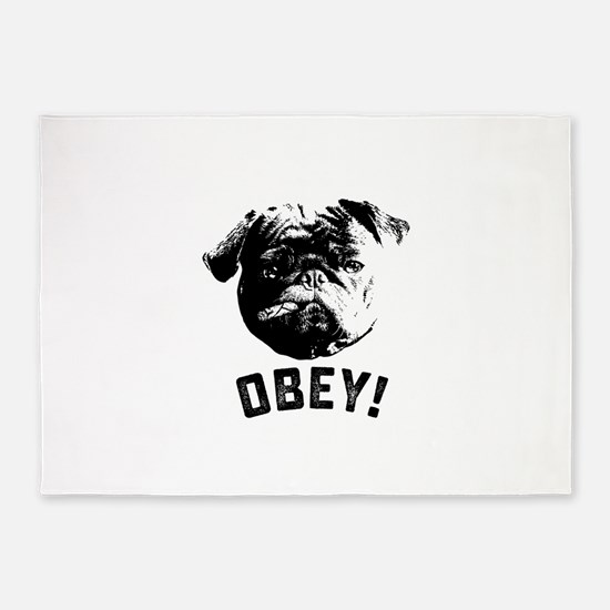 Obey The Pug 5'x7'Area Rug