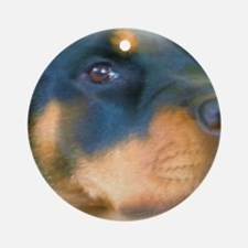 Rottweiler - Best Friend Round Ornament