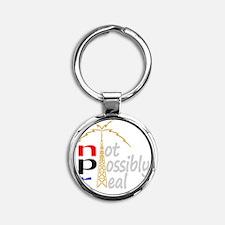 npr national public radio Round Keychain