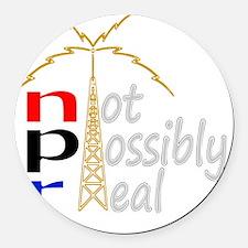npr national public radio Round Car Magnet
