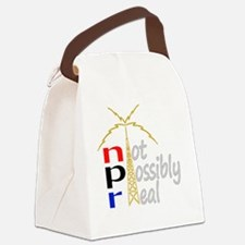 npr national public radio Canvas Lunch Bag