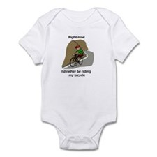 right now riding bicycle Infant Bodysuit