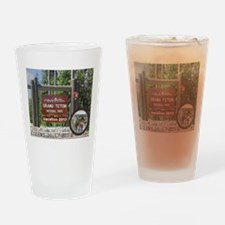DIY Photo Souvenir From Grand Tetons Drinking Glas