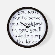 sleep-kitchen2 Wall Clock
