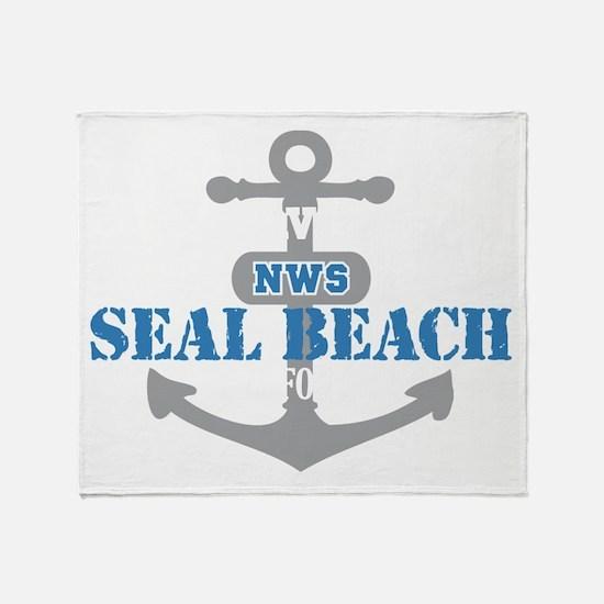 CA Seal Beach 2 Throw Blanket