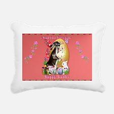 A Good Three Bunny Easte Rectangular Canvas Pillow