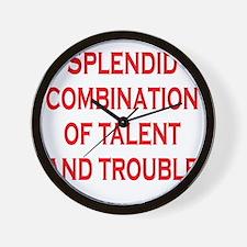 splendid-talent2 Wall Clock