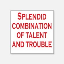 "splendid-talent2 Square Sticker 3"" x 3"""