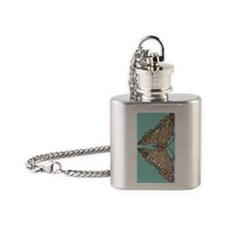 Colorful_Jeweled_butterfly_54_blue Flask Necklace
