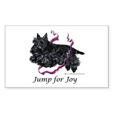 Jump for Joy Scottie Rectangle Decal