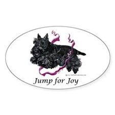 Jump for Joy Scottie Oval Decal