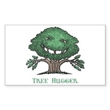 Tree Hugger 1L Rectangle Decal