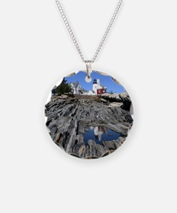 Maine Reflection Note Card Necklace