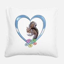 sqheart Square Canvas Pillow