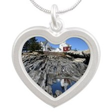 Reflection Note Card Silver Heart Necklace