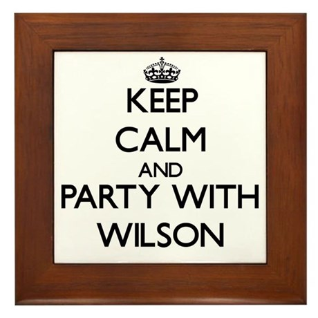 Keep Calm and Party with Wilson Framed Tile