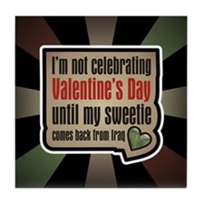 Military Sweetheart Iraq Valentine Tile Coaster