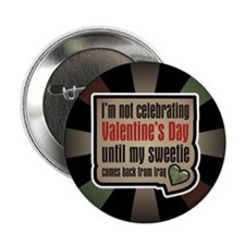 "Military Sweetheart Iraq Valentine 2.25"" Button (1"