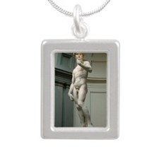 The-David Silver Portrait Necklace