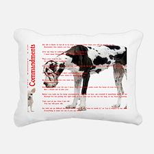 CANINE TEN COMMANDMENTS  Rectangular Canvas Pillow
