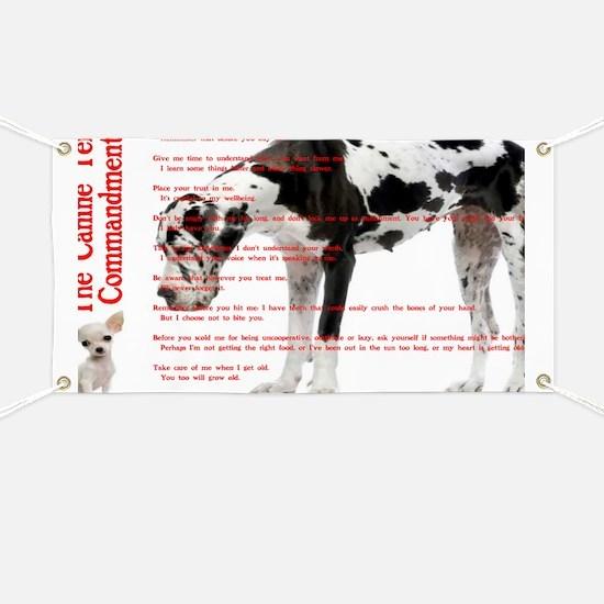 CANINE TEN COMMANDMENTS 36x24 001 032011 Banner