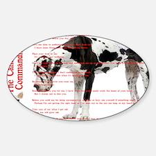CANINE TEN COMMANDMENTS 36x24 001 0 Sticker (Oval)