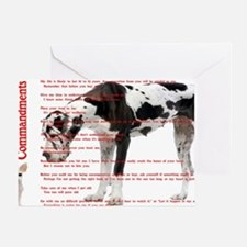 CANINE TEN COMMANDMENTS 36x24 001 03 Greeting Card