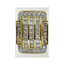 yellow_gold_and_diamonds_78_iPad_ Rectangle Magnet