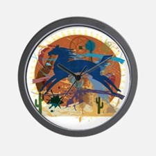 PonyAbstract1 Wall Clock