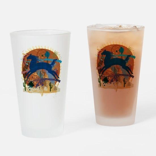PonyAbstract1 Drinking Glass