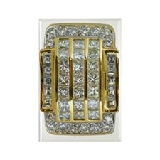 yellow_gold_and_diamonds_73_iPhon Rectangle Magnet