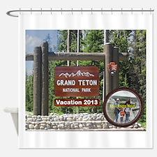 DIY Photo Souvenir From Grand Tetons Shower Curtai