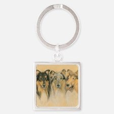 Collie Adults Square Keychain
