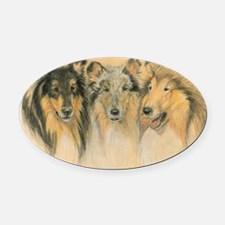 Collie Adults Oval Car Magnet